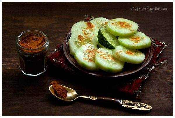 Mexican Cucumbers with Chile and Lime       peeled cucumber, sliced or cut into spears or chunks     freshly squeezed lime juice*     chile powder or Tajin or any Mexican fruit seasoning powder     salt