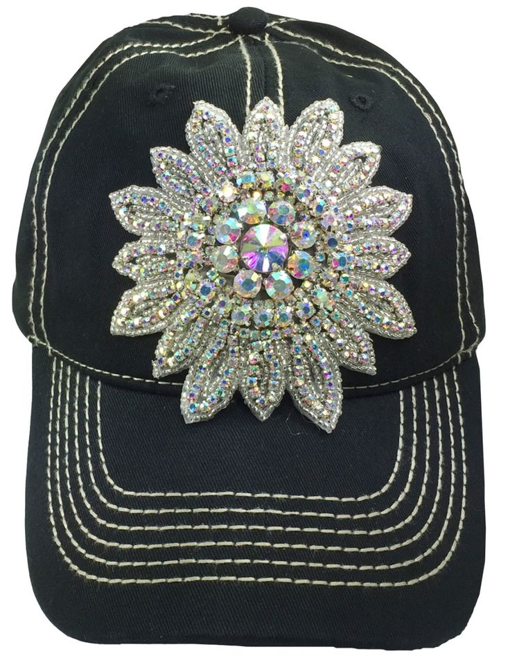 womens baseball hats with bling black cap wholesale