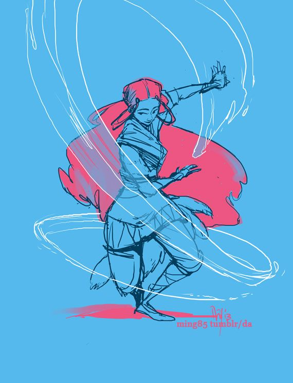Avatar the Last Airbender: Waterbending doodle by ming85.deviantart.com on @deviantART