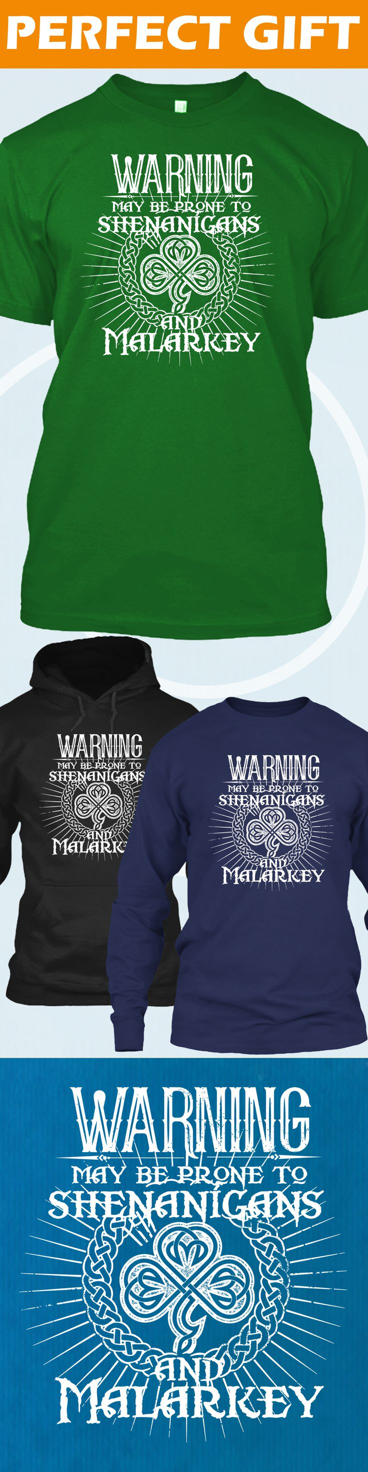Shenanigans and Malarkey - Limited edition. Order 2 or more for friends/family & save on shipping! Makes a great gift!