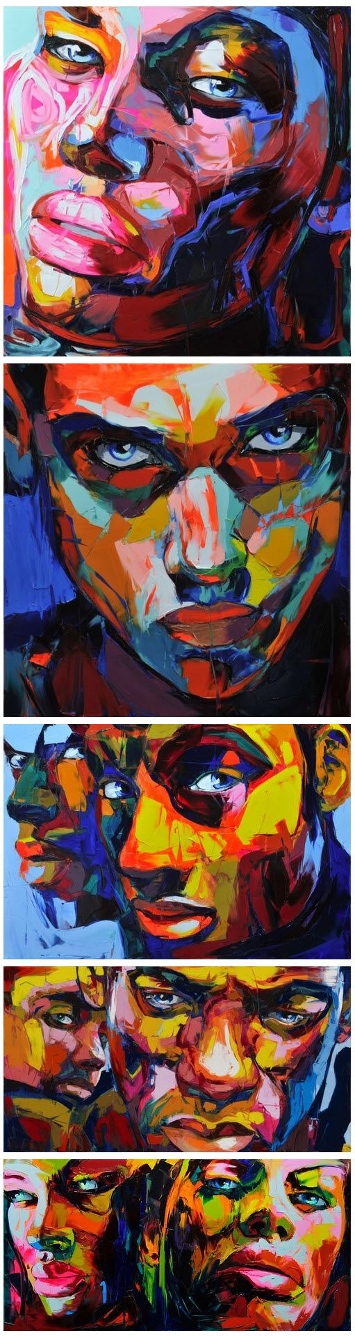 #Françoise Nielly #painting #portrait Facial expressions?