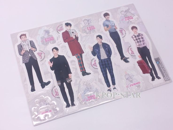 2PM NickKhun JunHo ChanSung Standing Paper Doll Korean Pop Star KPOP Paper Doll