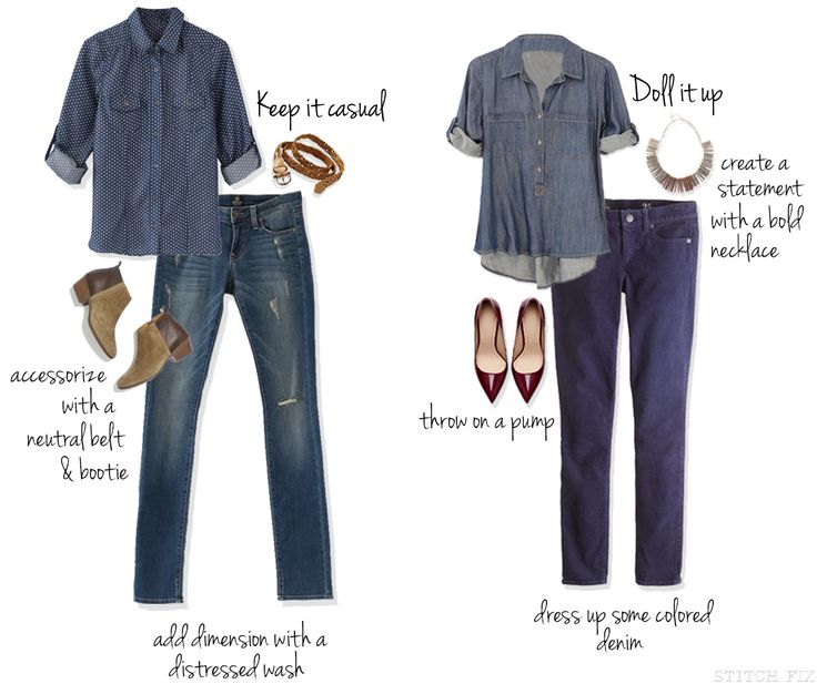 How to wear: Denim on denim