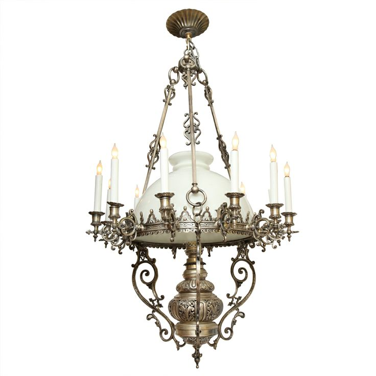 Antique Lighting Fixtures And Original Prints