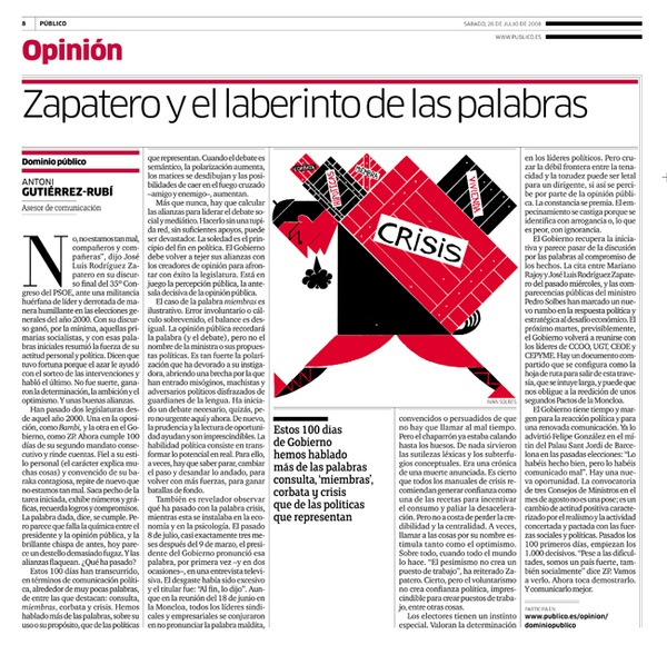 Zapatero and words by Ivan Solbes, via Behance