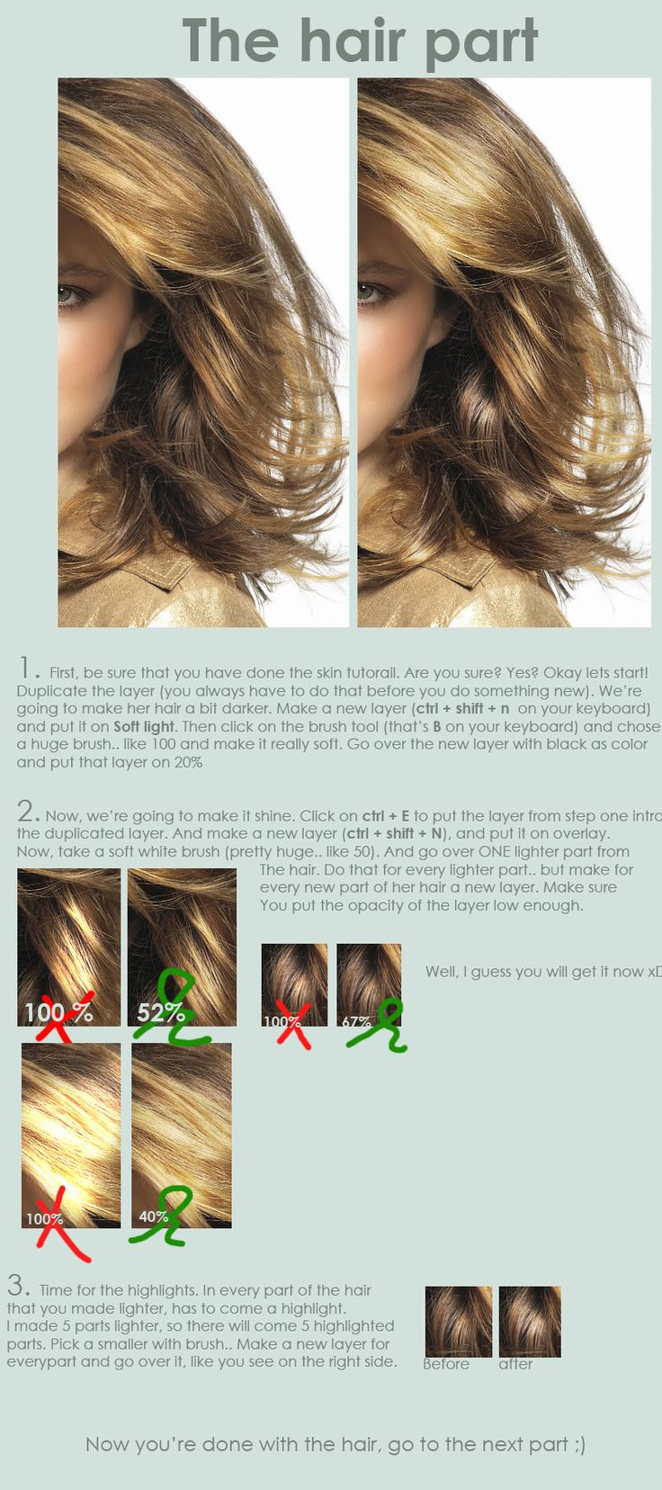 Hair Retouch : Hair retouch tutorial by ~EverythingsMagic on deviantART: Hair Retouch