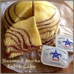 My Mind Patch: Steamed Mocha Zebra Cake