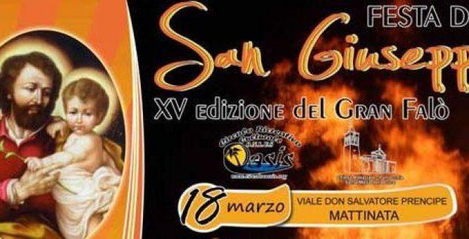 18 - 19 mar. Festa di San Giuseppe - XV Edizione del Gran Falò. Location: Centro Cittadino