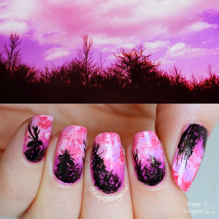 Simply Nailogical Nail Art: 17 Best Ideas About Silhouette Nails On Pinterest