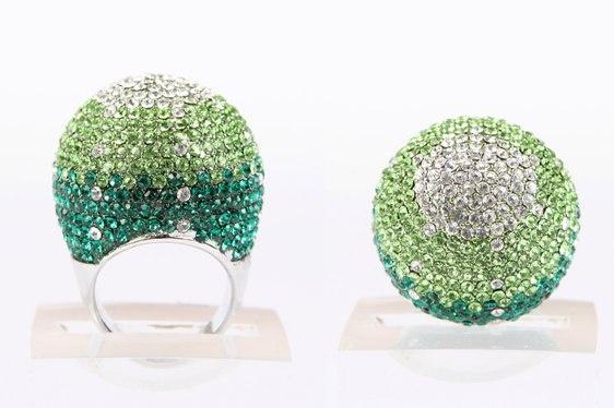 Crystal Ball Ring - Green