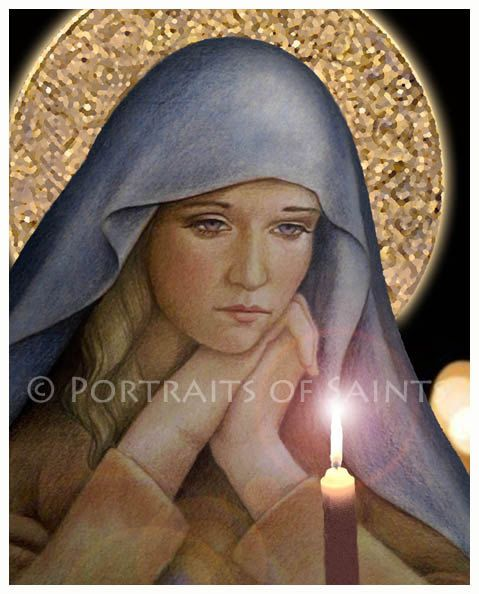 The First Advent Catholic Art Print Blessed by PortraitsofSaints, $12.00