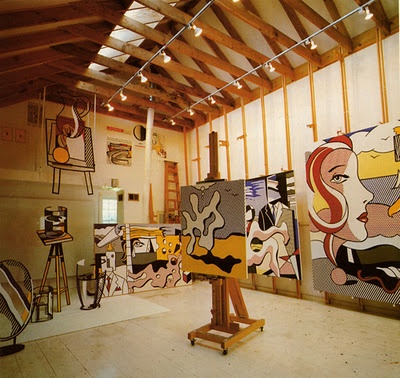 Roy Lichtenstein's studio