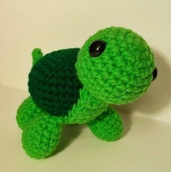 Crochet Turtle Pattern by yarnabees on Etsy