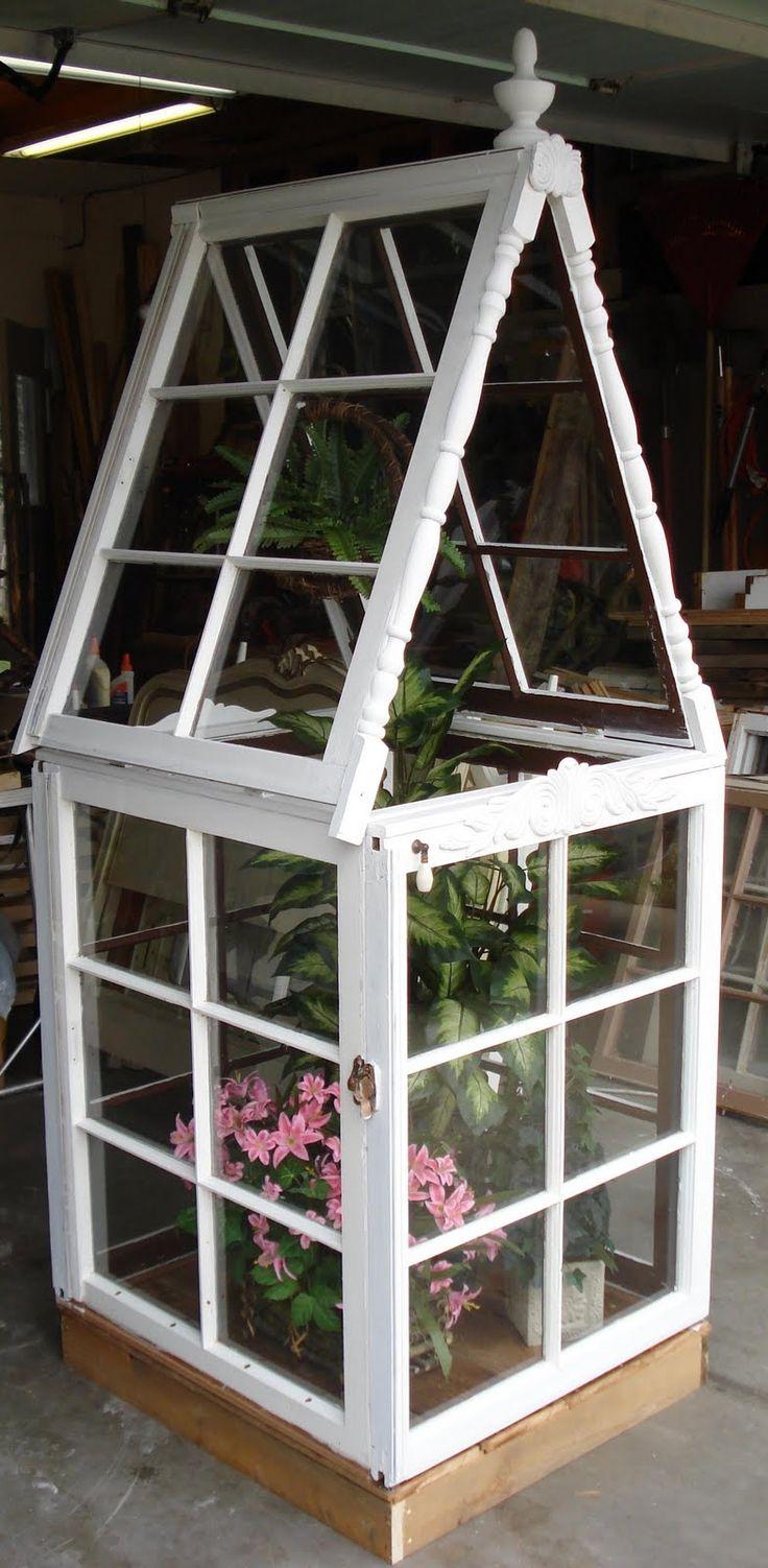 Best 25 old window greenhouse ideas on pinterest window for Garden window plans