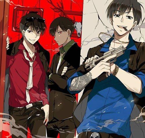 Osomatsu-san- Osomatsu, Karamatsu, and Choromatsu #Anime「♡」Mafia