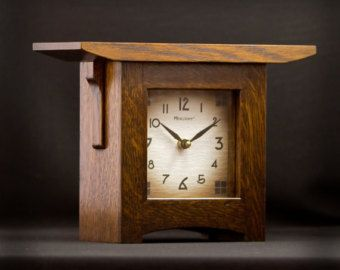Craftsman Style Mantel Clocks | Craftsman Style Mantel Clock