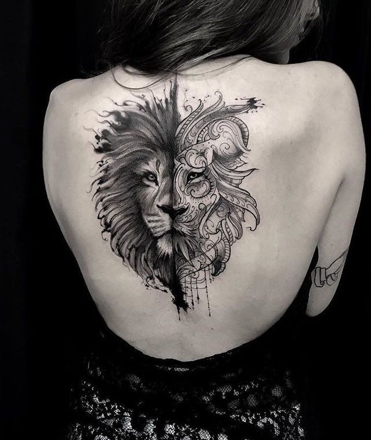 Lion back ink piece by @andrefelipetattoos