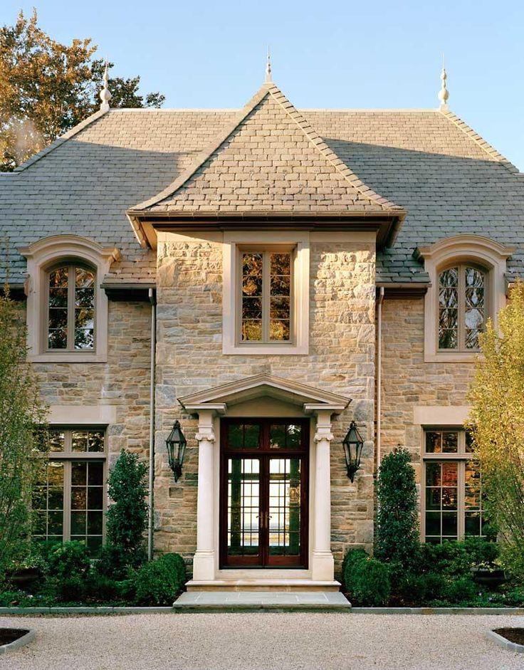 Douglas VanderHorn Architects, Waterfront French Normandy Style, New Canaan, CT.