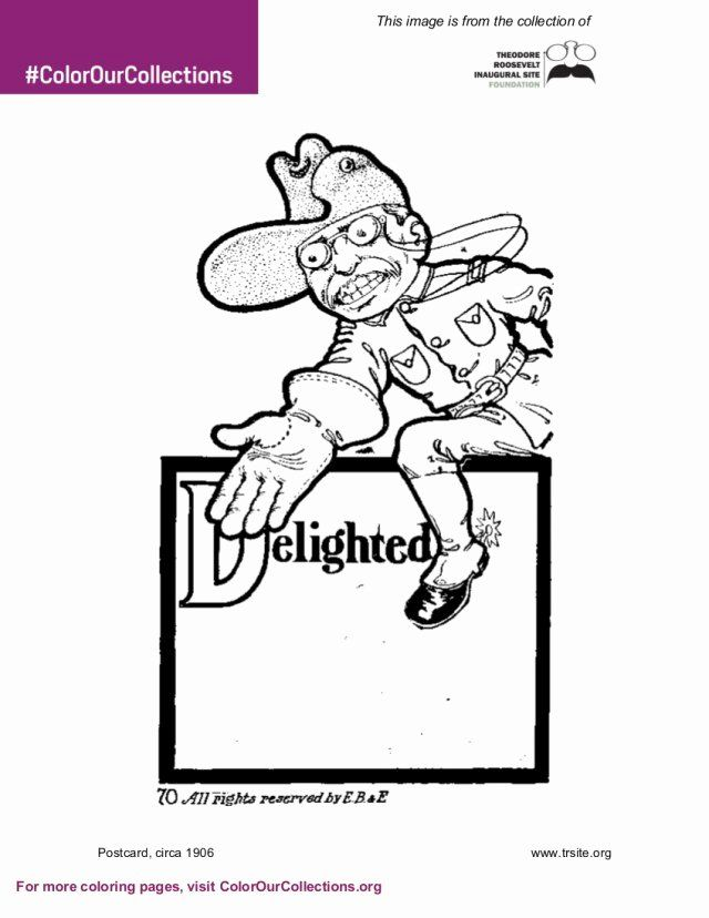 Theodore Roosevelt Coloring Page Luxury Theodore Roosevelt Inaugural Site Coloring Book Color Our Coloring Pages Theodore Roosevelt Roosevelt