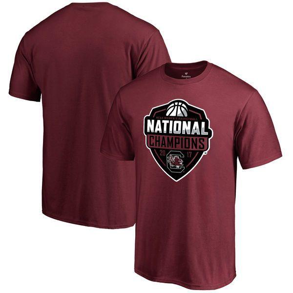 South Carolina Gamecocks Fanatics Branded 2017 NCAA Women's Basketball National Champions Official Logo T-Shirt - Garnet - $24.99