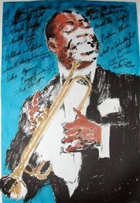 Louis Armstrong by LeRoy Neiman