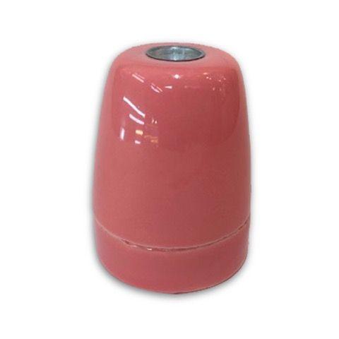 Portalámparas E27 porcelana rosa  #lamparas #montar #fabricar #decoracion #accesorios #piezas