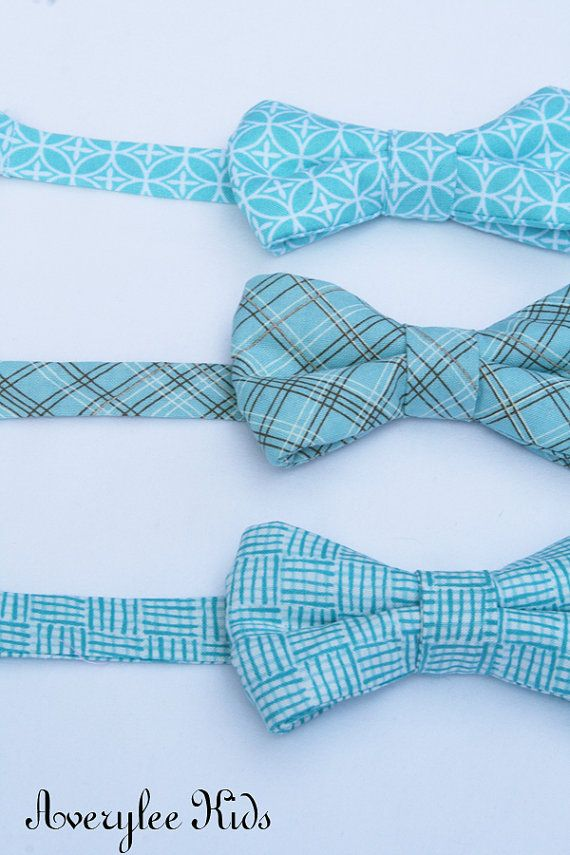 Bright Blue Bow Ties for Boys Infants Toddlers by AveryleeKids