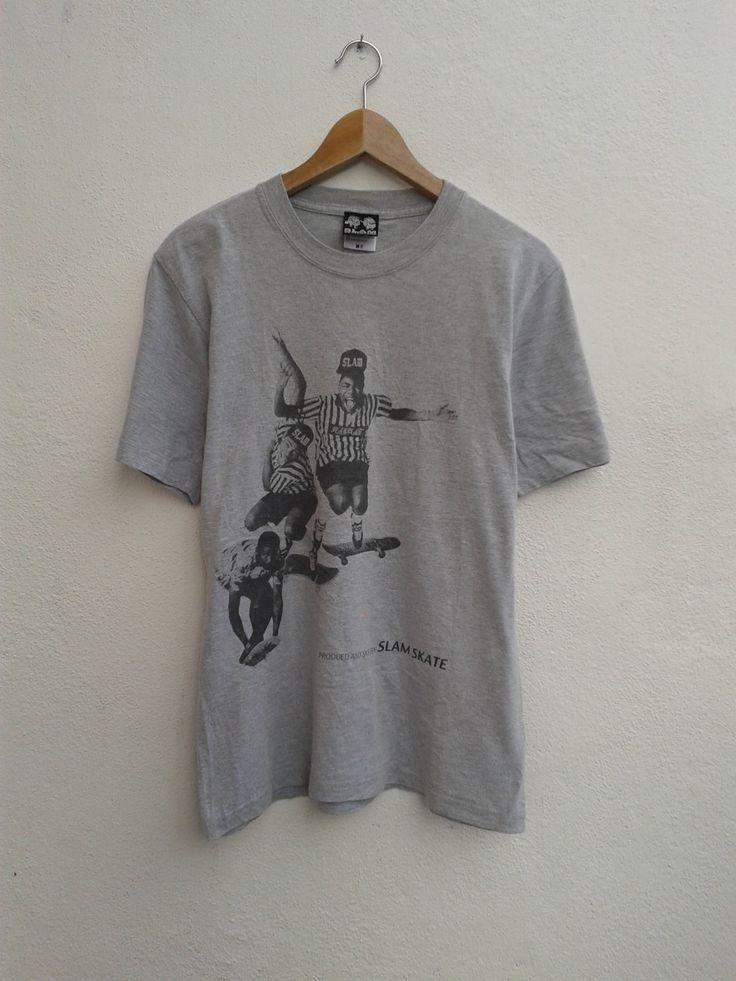 SLAM SK8 Skate Board Streetwear Gear Vintage 90s Hip-Hop Rap T-Shirt Size M Skateboarding Gear by BubaGumpBudu on Etsy