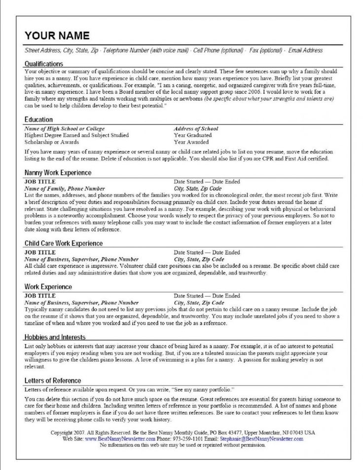 The 25+ best Resume builder template ideas on Pinterest Resume - child care resume