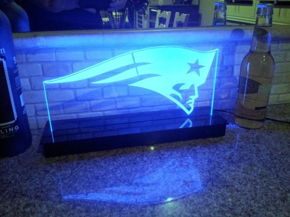 New England Patriots NFL Multi color LED Sign with Remote Control -  Made In USA!  -  Great for a Bar - Pub - Man Cave - Game Room - Club