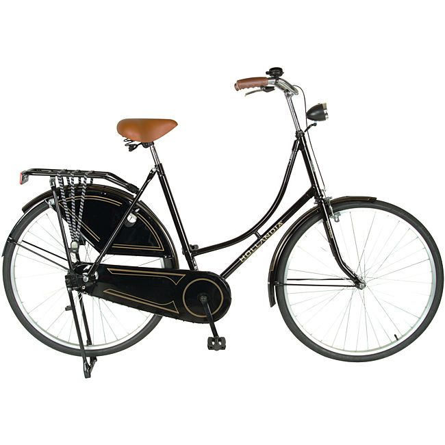 This vintage-looking womens Dutch bicycle comes straight from Hollandia to let you experience a piece of Amsterdam for yourself. Featuring a convenient dress guard and a sturdy Hi-Ten TIG frame, this Oma bicycle is a spectacular find.