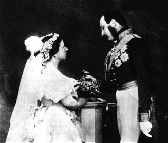 Queen Victoria, and Prince Albert