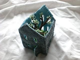 Felt house with tree. Rowena Murillo: Baby, Felt Houses