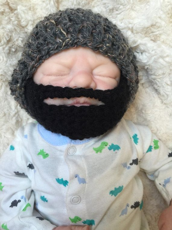 Baby boy crochetedknitted hippie hippybohoslouch by CarraigDesigns