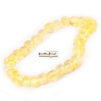 Wearing an amber bracelet might assist you with eczmea,arthritis and general aches and pains.This Lemon 18cm Bambeado amber bracelet is made from rounded bud amber beads that have been smoothed so that there are no sharp edges. The bracelet is approx 18 cm in length and is threaded onto elastic to stretch over your wrist.While Bambeado amber comes in several colours, the colour is just a matter of personal choice.