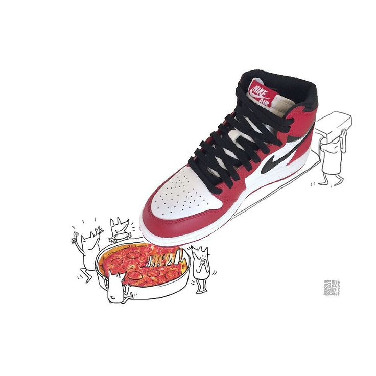 "[Nike Air Jordan 1] Retro High OG ""Chicago"" the most delicious kick ""Hey, gimme that pizza, my man...yes, that's right!"""