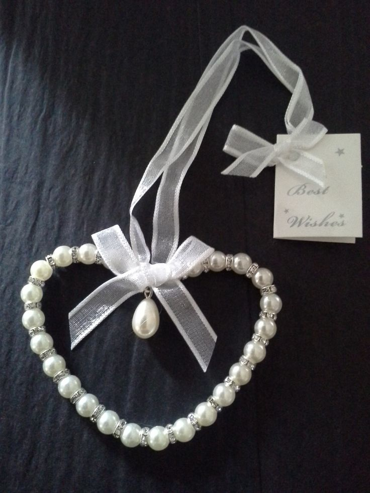 Pearl & Diamante Love Heart Bridal Keepsake