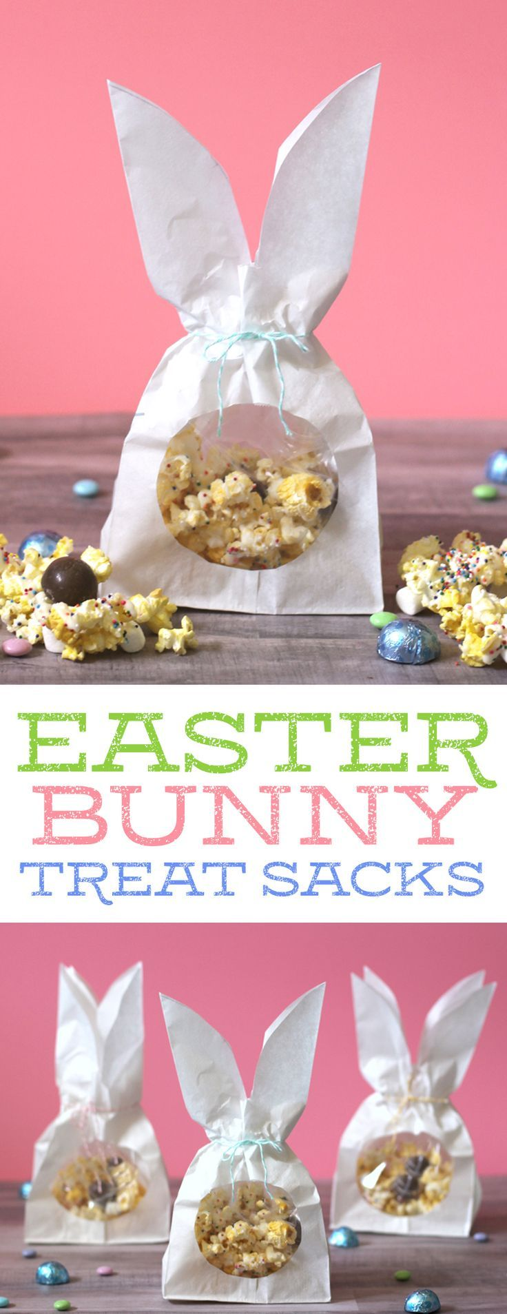 Peanut Butter Egg Bunny Bait + A Cute DIY Easter Bunny Treat Sack. The perfect little Easter or Spring gift idea!