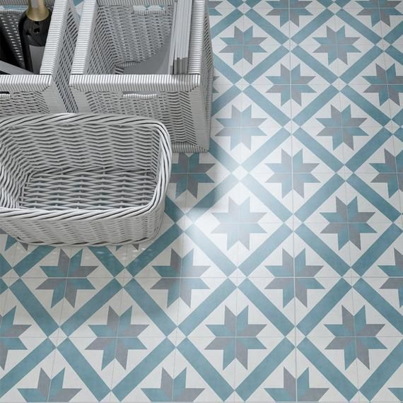 Tile Stickers, Versailles, Suitable for Wall and Floor, Waterproof