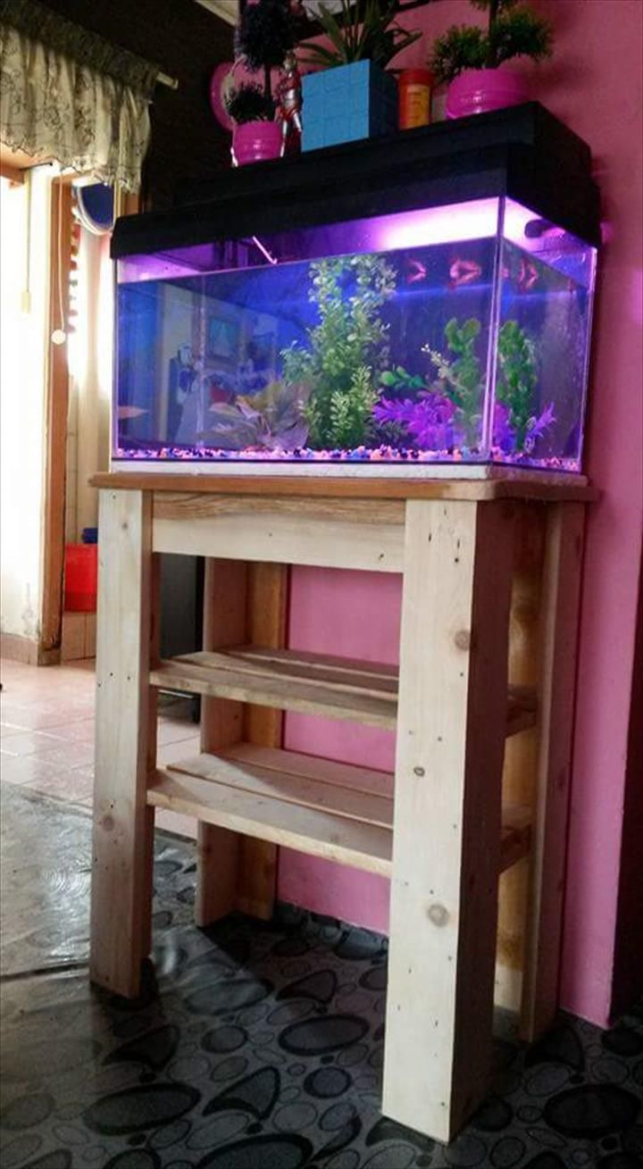 Fish tank pool table - Pallet Fish Tank Stand