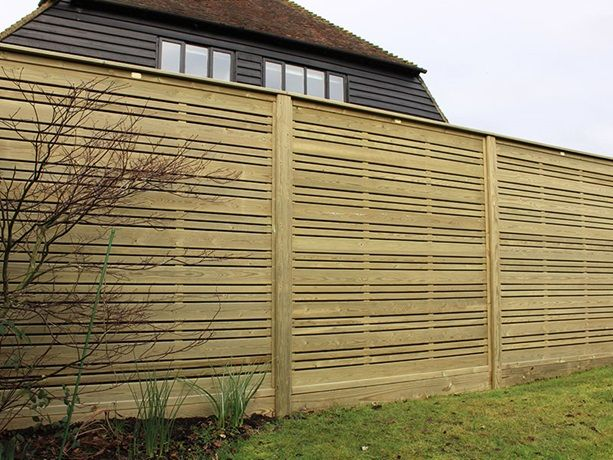Urban Fencing Panels In 2020 Fence Panels Slatted Fence Panels