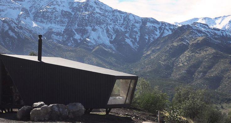 Horská chata v štýle origami
