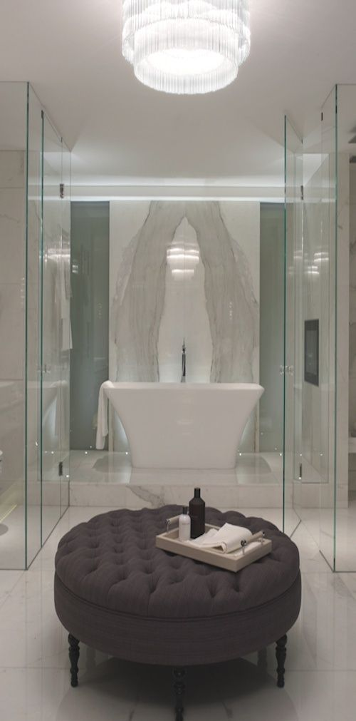 Love this #bathroom. It is luxurious and beautiful. www.remodelworks.com