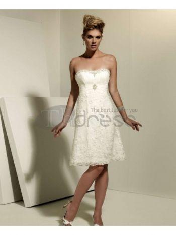 Abiti da Sposa Corti-Sweetheart taffettà scollatura abiti da sposa corti