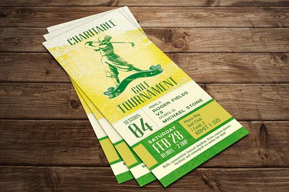 Charitable Golf Tournament Ticket Publisher Template is for sports club, charity organization, school fundraisers and competition tournaments. The retro grunge style will give your event a nostalgic appeal. Make it part of your arsenal in your template database.  In this package you'll find 1 Publisher Template (2x6 Ticket).   This template is a Microsoft Publisher template designed by Godserv to be edited with Microsoft Publisher 7 and higher. Once you have downloaded this template, use Micr...