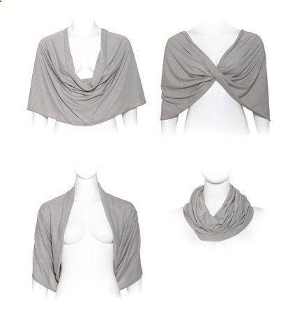 White bridal lace shrug (4-options-shawl, twist, shrug, scarf) romantic wedding cover up for bride, ready to ship. $45.00, via Etsy.