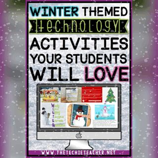 Winter themed TECHNOLOGY activities your students will LOVE. Ideas for iPads, Chromebooks, laptops & computers.