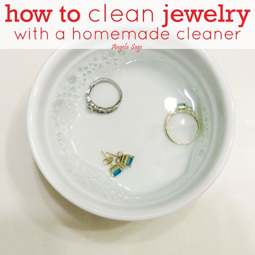 How to clean #jewelry with an easy to make jewelry #cleaner