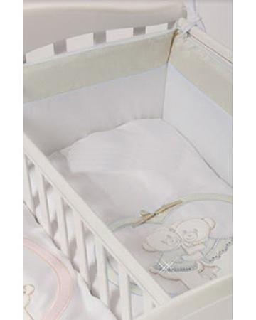 Feretti Baby Beddings Culla Gemelli Doppio Nidi Enchant бежевый  — 5070р.  Набор Baby Beddings Culla Gemelli Doppio Nidi Enchant бежевый Feretti состоит из одеяла и бортика. Комплект идеально подходит к люльке для близнецов от Feretti.