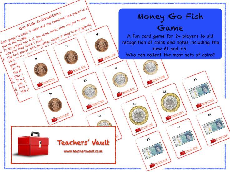 Money Go Fish Game - KS1, KS2 Maths Measurement Teaching Resources, Games and Activities